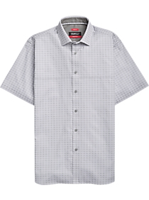 716625c6ac0a92 Mens Clearance - Kenneth Cole Awearness AWEAR-TECH White   Gray Check Short  Sleeve Sport