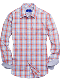 796c492e Mens Clearance, Sale - Egara Red & Blue Check Sport Shirt - Men's Wearhouse