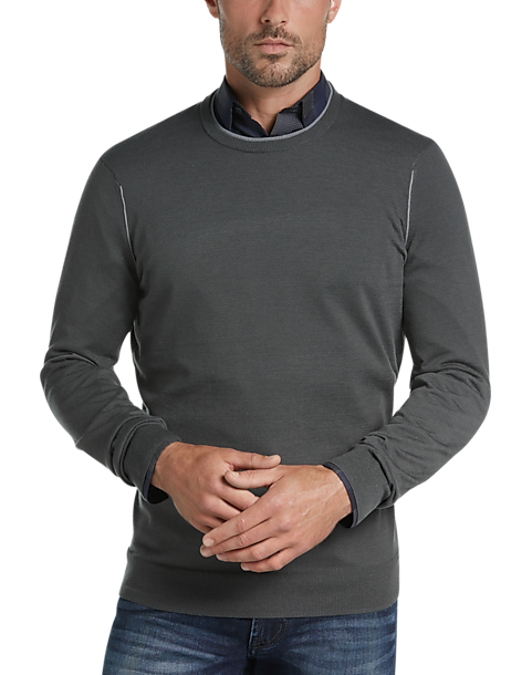 53be6516ce JOE Joseph Abboud Charcoal Crew Neck Sweater - Men s Sale
