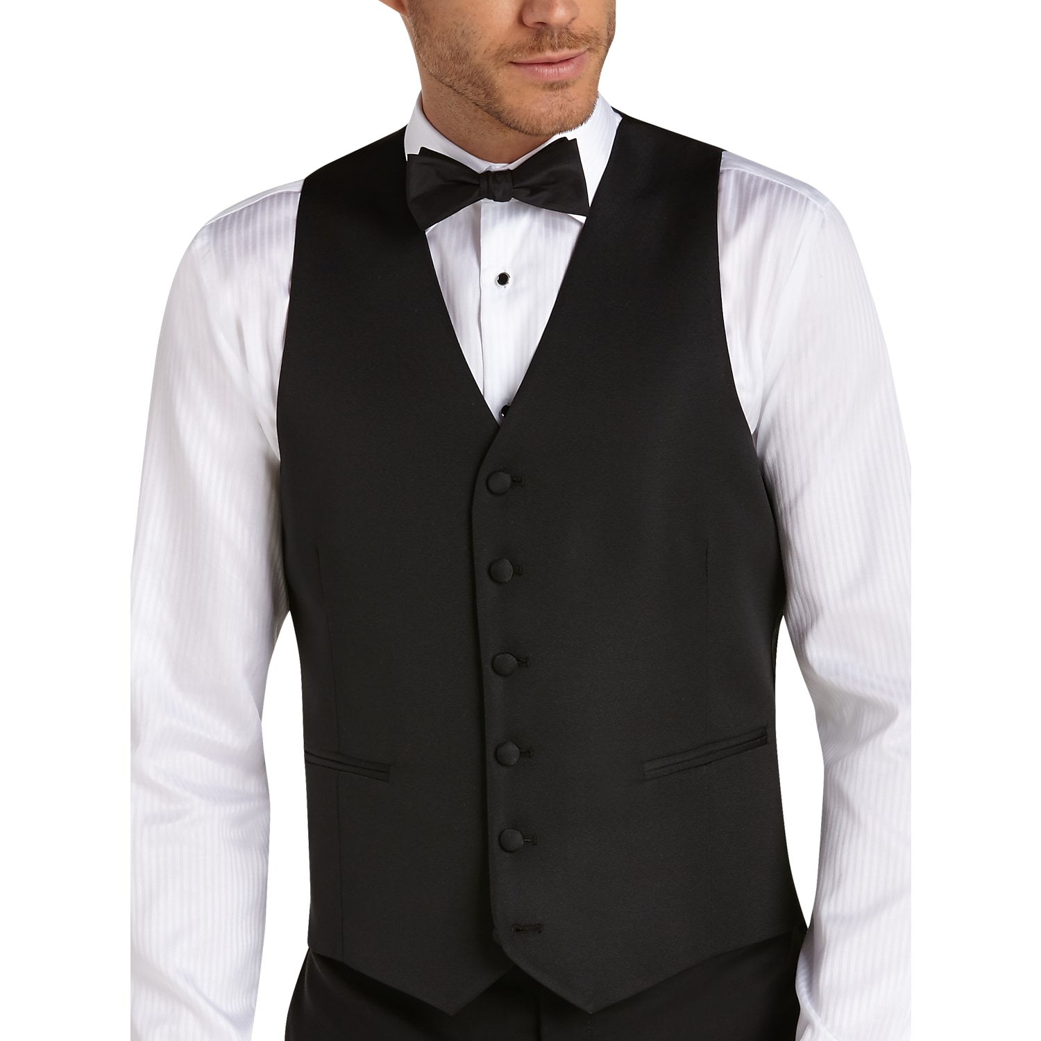 ccd50d2a83d1 Mens Vests, Suits - BLACK by Vera Wang Black Slim Fit Tuxedo Vest - Men's