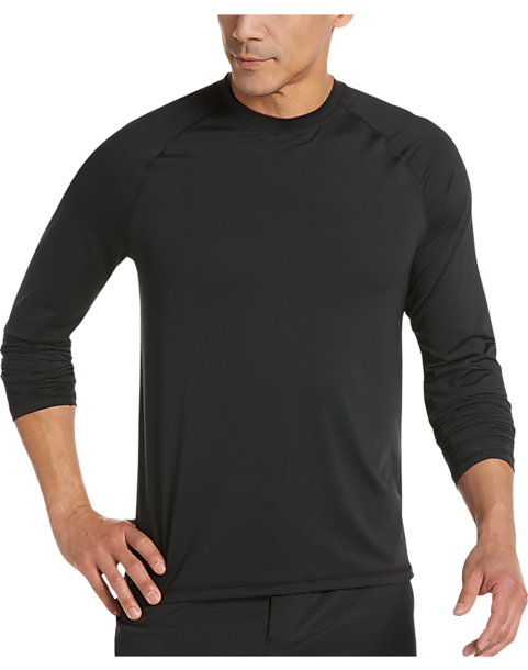 Joseph Abboud Black Long Sleeve Activewear Shirt - Men's Athletic ...