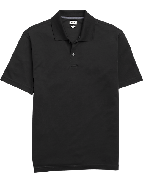 Joseph abboud black pima cotton polo shirt men 39 s golf for Black cotton polo shirt