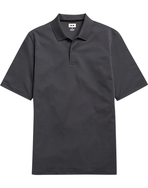 Joseph Abboud Charcoal Polo Shirt - Men's Golf Shirts | Men's ...