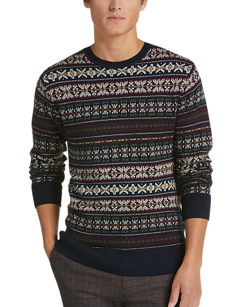 Paisley & Gray Navy Fair Isle Sweater