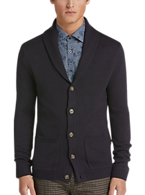 Paisley & Gray Shawl Collar Cardigan Sweater (Navy)