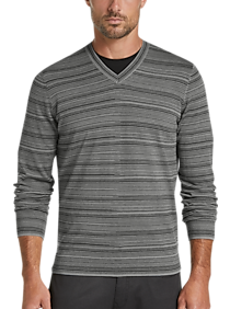JOE Joseph Abboud Gray V-Neck Sweater