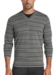 945142e8445 JOE Joseph Abboud Gray V-Neck Sweater