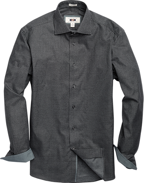 Joseph Abboud Black Dot Sport Shirt (Black)