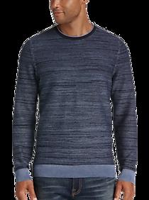 Mens Sweaters, Clearance - Joseph Abboud Indigo Sweater, Blue Stripe - Men's Wearhouse
