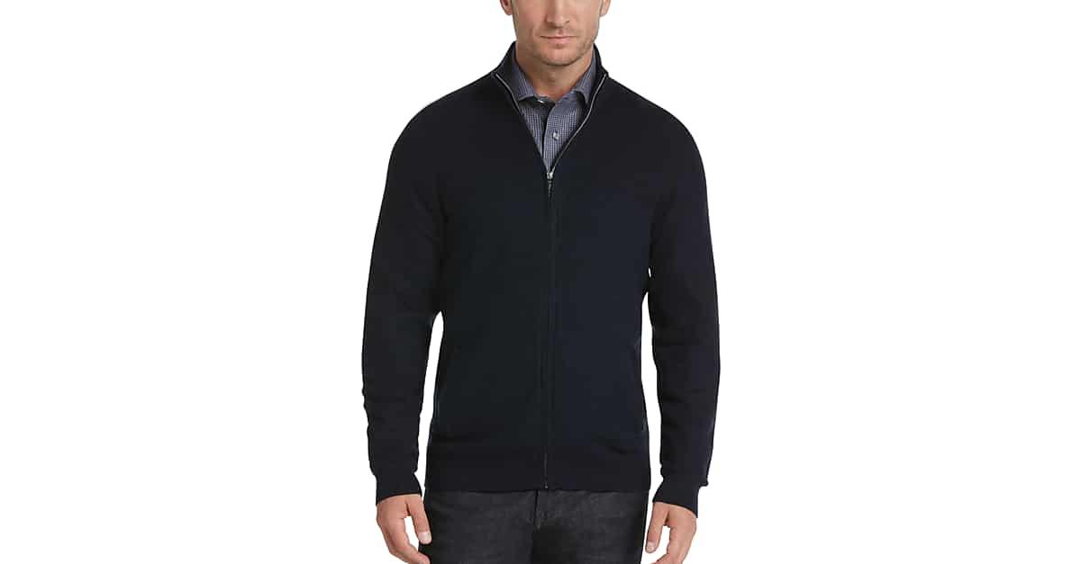 b15e0970feb3 Joseph Abboud Indigo Full-Zip Sweater - Men s Sale