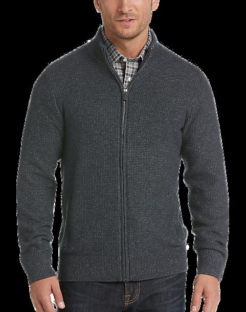 16843560667 Joseph Abboud Indigo Full Zip Cardigan Sweater