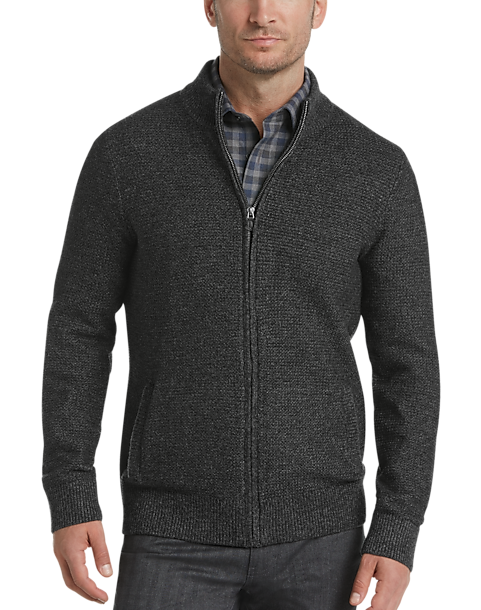 f8cb0f9a9f5b Joseph Abboud Black Full Zip Cardigan Sweater - Men s Sale