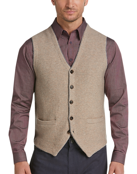 Joseph Abboud Wheat Tan Sweater Vest Mens Sweaters Mens Wearhouse
