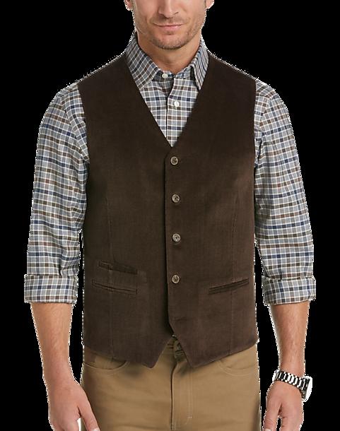 Joseph Abboud Black Herringbone Sweater Vest