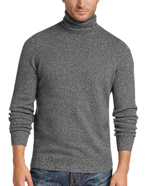 Joseph Abboud Limited Edition Charcoal Cashmere Turtleneck Sweater