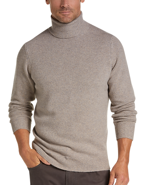 Joseph Abboud Limited Edition Wheat Cashmere Turtleneck Sweater