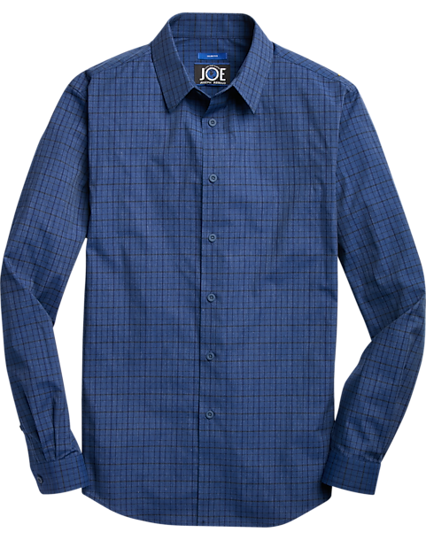 JOE Joseph Abboud Blue Check Sport Shirt (Blue)