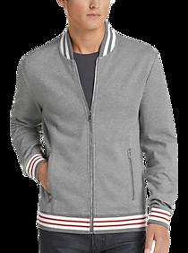 2a93f94cef6 Mens Clearance - Calvin Klein Grey Zippered Jacket - Men s Wearhouse