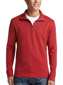 Mens Sweaters, Clearance - Calvin Klein Red 1/4 Zip Pullover - Men's Wearhouse