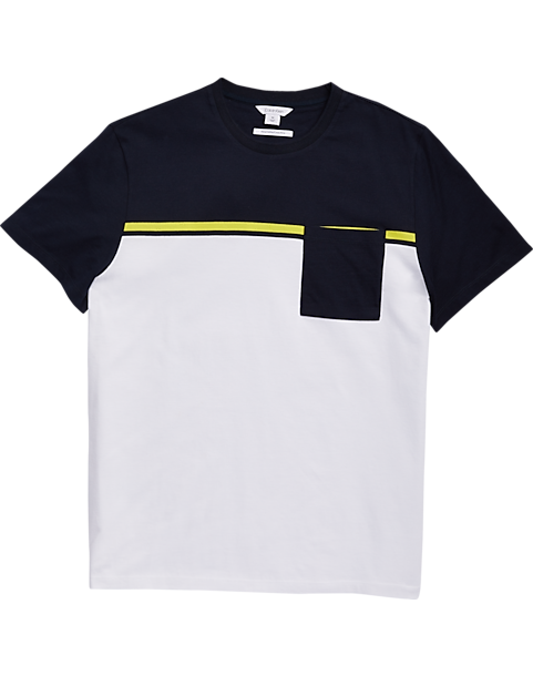 Calvin Klein White, Yellow & Navy T-Shirt