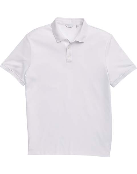 3329d3601b74e Calvin Klein Liquid Touch White Polo Shirt - Men s Shirts