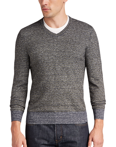 Joseph Abboud Olive & Navy V-Neck Sweater - Men's Sweaters | Men's ...