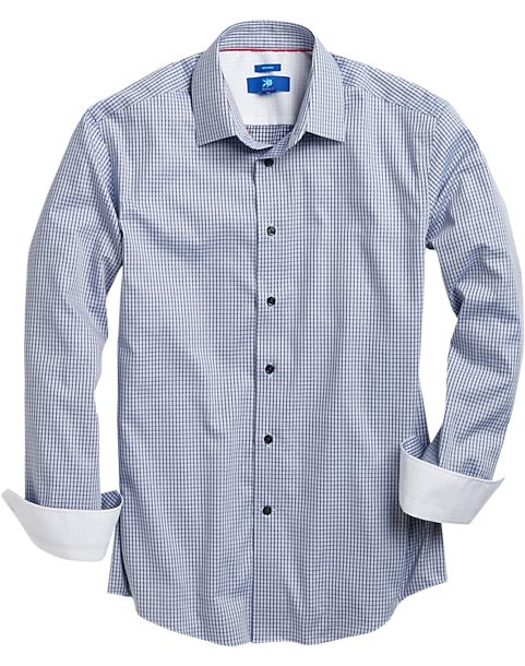 Egara Mens Blue Stripe Sport Shirt