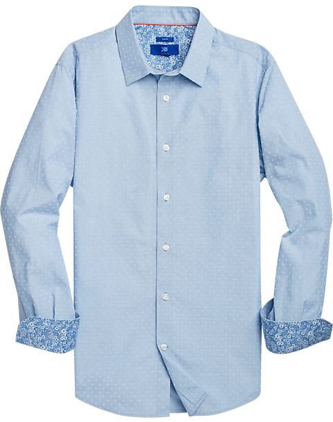 Egara Men's Stripe Sport Shirt (Lt Blue)
