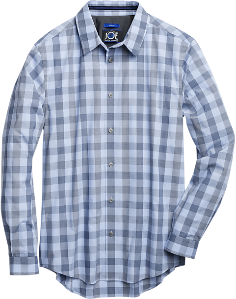 JOE Joseph Abboud Repreve Light Blue Check Sport Shirt