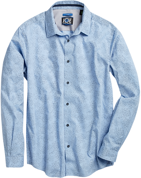 886dc7d56c77 JOE Joseph Abboud Repreve® Light Blue Floral Sport Shirt - Men's ...
