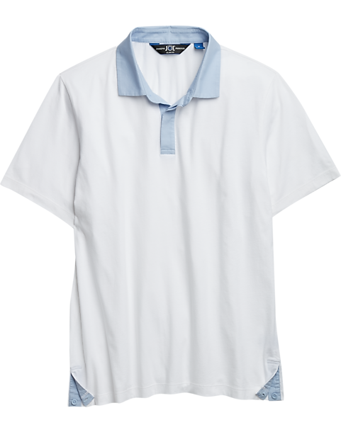 98603a8ca4b7 JOE Joseph Abboud Bright White Slim Fit Polo Shirt - Men's Shirts ...