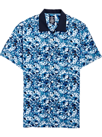 7e4659c5 Mens Home - Construct Blue Floral Camp Shirt - Men's Wearhouse