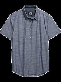 c24f1aa73d JOE Joseph Abboud Repreve® Navy Blue Diamond Sport Shirt