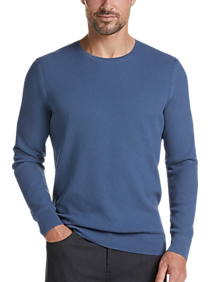 JOE Joseph Abboud Blue Slim Fit Crew Neck Sweater