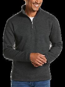 Age Of Wisdom Charcoal 1/4 Zip Fleece Pullover