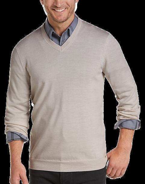 5c7d9bfd7 Joseph Abboud Ivory V-Neck Merino Wool Sweater - Men s Sale
