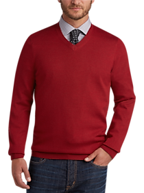 Mens Red Sweater | Mens Wearhouse