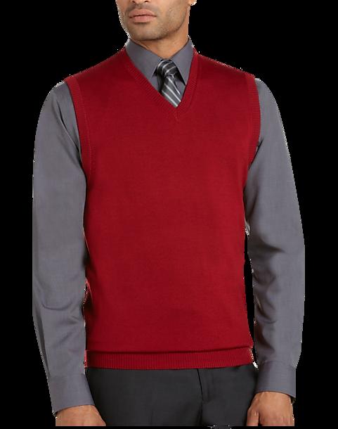 ... Uomo Charcoal Merino Sweater Vest