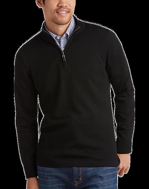 3a3fd39b8e0d Joseph Abboud Black Merino Wool Sweater - Men's Sweaters | Men's ...