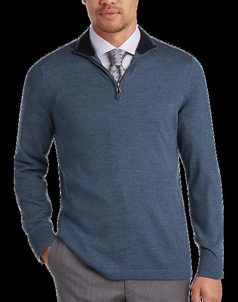 Joseph Abboud Slate Merino Wool Sweater
