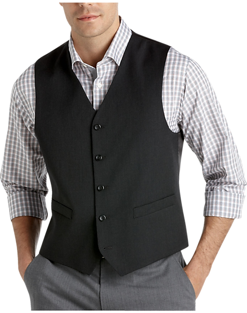 Pronto Uomo Platinum Suit Separates Vest, Charcoal - Men's Suit ...