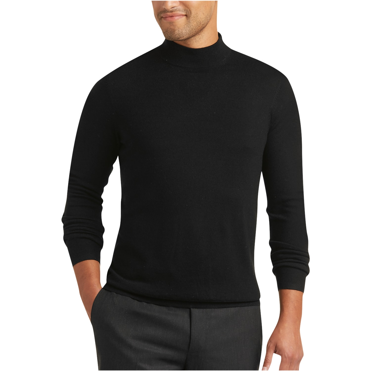 Merino Wool Mock Neck Sweater | Mens Wearhouse