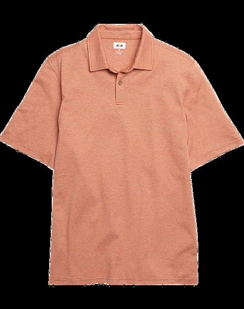 8460df24d Joseph Abboud Orange Stripe Polo Shirt - Mens Shirts - Men's Wearhouse