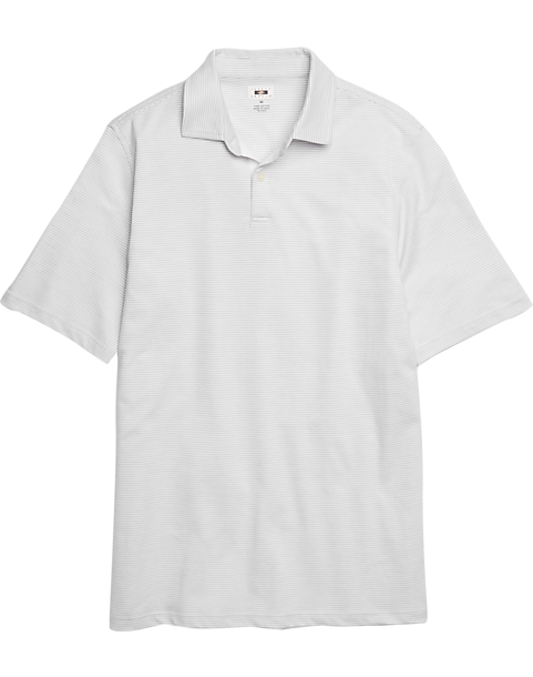 95575a21d Joseph Abboud Light Gray Stripe Polo Shirt - Men's Shirts   Men's ...