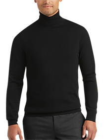 Joseph Abboud Black Turtleneck Merino Wool Sweater