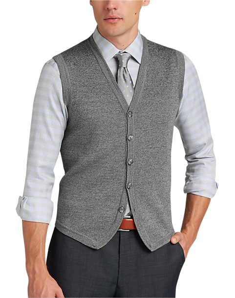 Joseph Abboud Charcoal Sweater Vest - Men's Business Casual Looks ...