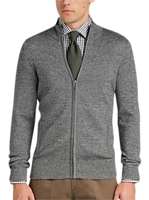 Joseph Abboud Grey Full Zip Sweater