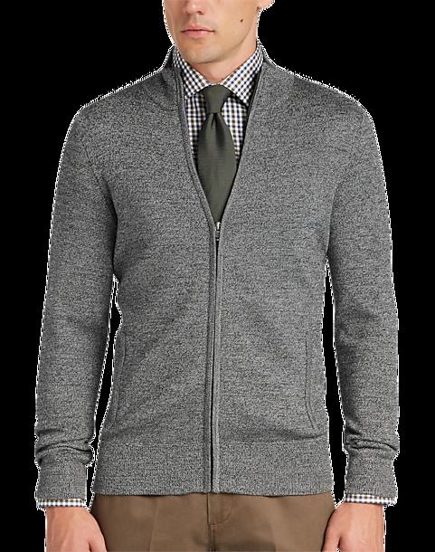 a72e3930a02 Joseph Abboud Grey Full Zip Sweater - Men's Sale | Men's Wearhouse