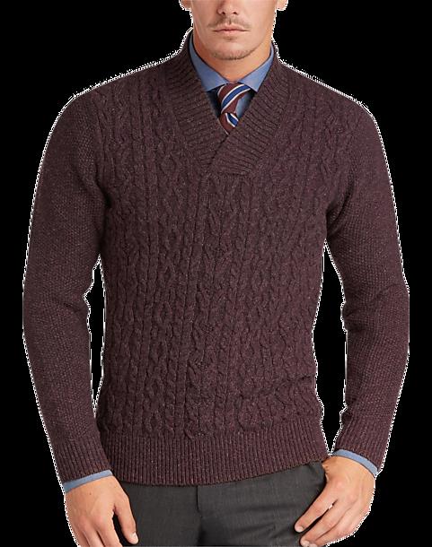 59e8ee452 Joseph Abboud Berry Shawl Collar Sweater - Men s