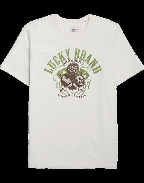 1d90fe97d Lucky Brand Logo Off-White T-Shirt - Men's Shirts   Men's Wearhouse